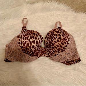 Victoria's Secret Lined Demi Cheetah Bra 38C